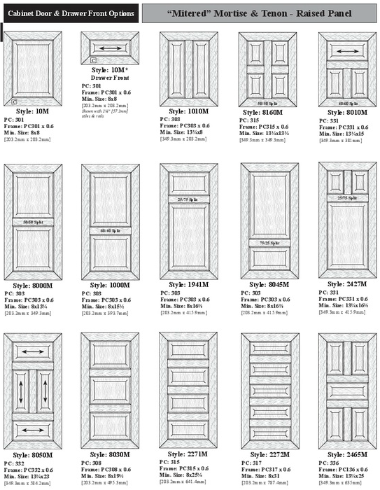 Mitered Mortise u0026 Tenon Doors are often valued for their stylish design and outstanding craftsmanship. This style of door construction is often fitting for ...  sc 1 st  Cabinets of Katy & B 5-6 - DOORS - Mitered - Cabinets of Katy